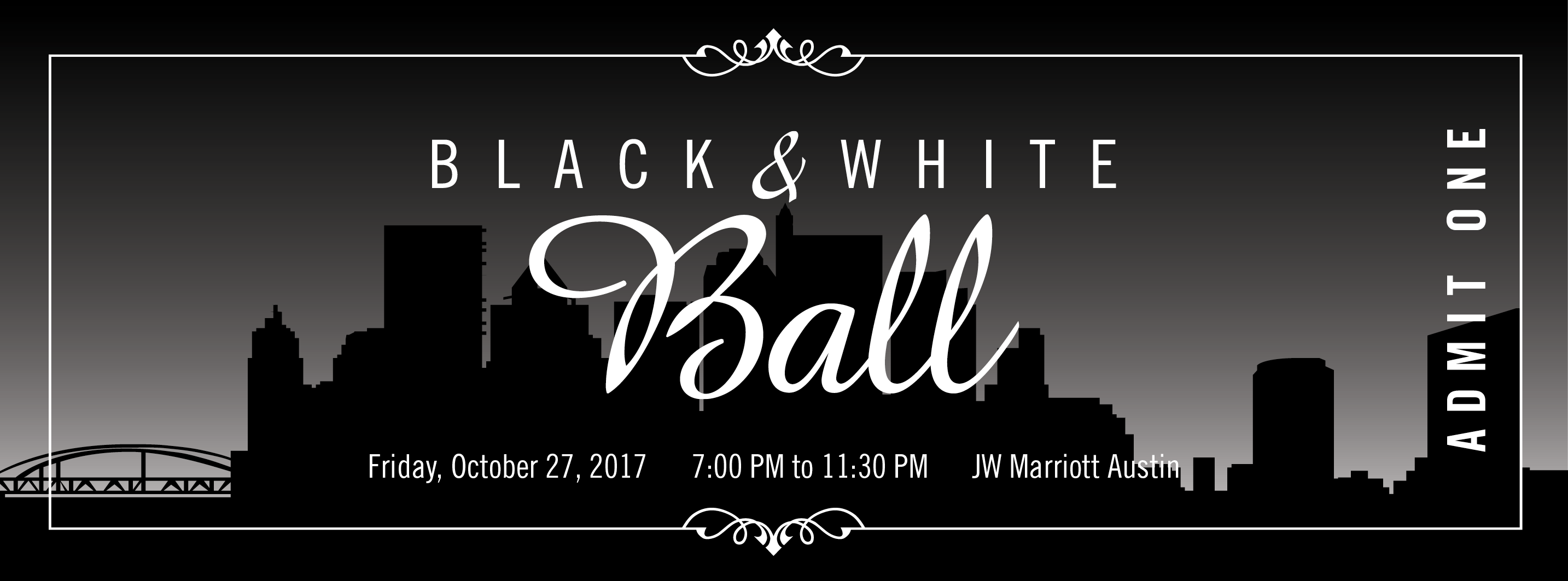2017 black white ball